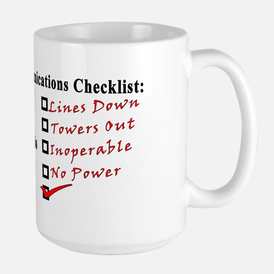 Emergency Comm Checklist Large Mug
