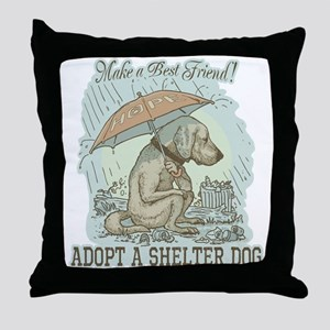 Best Friend Rescue Dog Throw Pillow