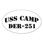USS CAMP Oval Sticker (50 pk)