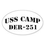 USS CAMP Oval Sticker (10 pk)