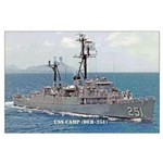 USS CAMP Large Poster