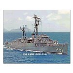 USS CAMP Small Poster