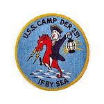 """USS CAMP 3.5"""" Button"""