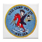 USS CAMP Tile Coaster