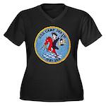 USS CAMP Women's Plus Size V-Neck Dark T-Shirt