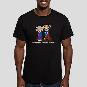 Superhero (Boy and Girl) Men's Fitted T-Shirt (dar