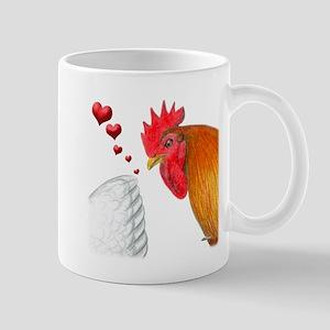 Valentine Rooster in Love Mug