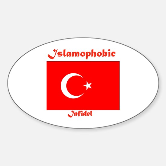 THE RELIGION OF PEACE Oval Decal