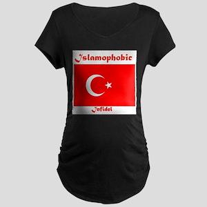 THE RELIGION OF PEACE Maternity Dark T-Shirt
