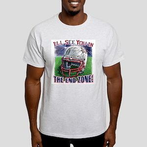 End Zone Football Helmet Light T-Shirt