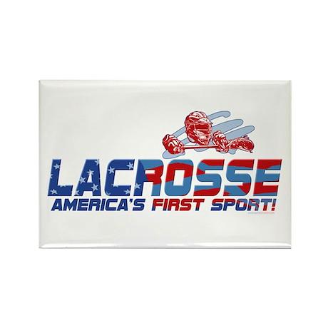 Lacrosse America's Sport Rectangle Magnet
