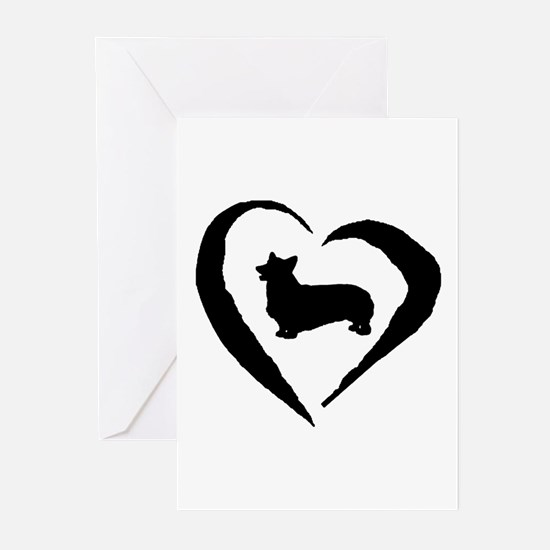 Pembroke Heart Greeting Cards (Pk of 20)
