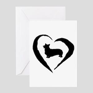 Pembroke Heart Greeting Card
