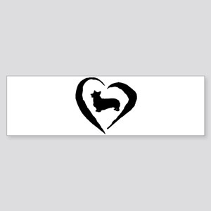 Pembroke Heart Bumper Sticker