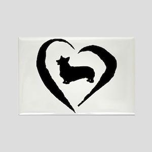 Pembroke Heart Rectangle Magnet