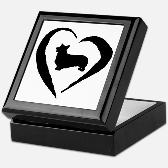 Pembroke Heart Keepsake Box