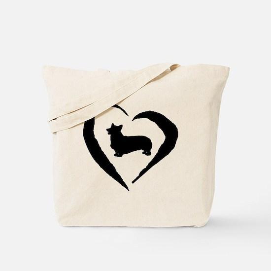 Pembroke Heart Tote Bag