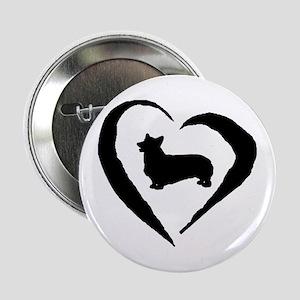 """Pembroke Heart 2.25"""" Button"""