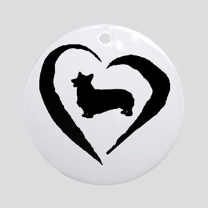 Pembroke Heart Ornament (Round)