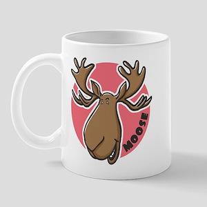 Cartoon Moose Pink Mug