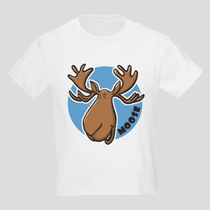 Cartoon Moose Blue Kids T-Shirt