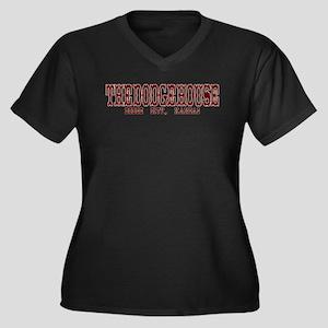 The Dodge House Women's Plus Size V-Neck Dark T-Sh