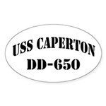 USS CAPERTON Oval Sticker (50 pk)