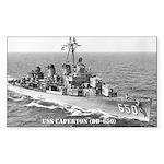 USS CAPERTON Rectangle Sticker
