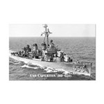 USS CAPERTON Mini Poster Print