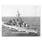 USS CAPERTON Small Poster