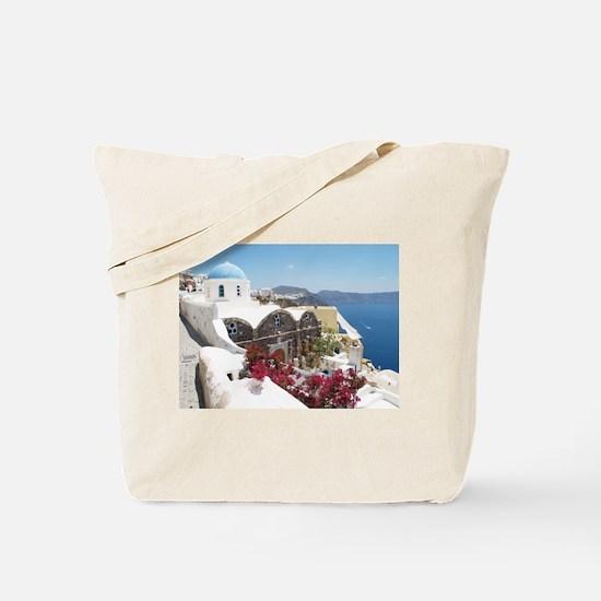 Unique Santorini Tote Bag