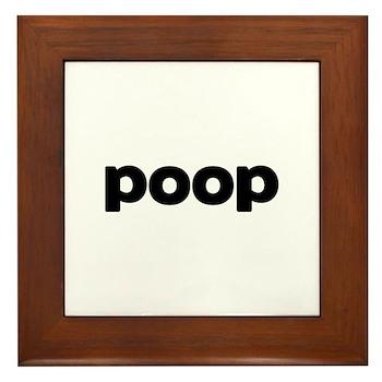Poop Framed Tile