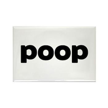 Poop Rectangle Magnet