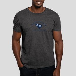 Garden City Beach SC - Map Design Dark T-Shirt