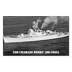 USS CHARLES BERRY Rectangle Sticker 50 pk)