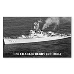 USS CHARLES BERRY Rectangle Sticker 10 pk)