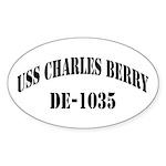 USS CHARLES BERRY Oval Sticker (50 pk)