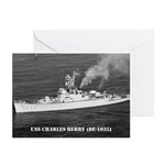 USS CHARLES BERRY Greeting Cards (Pk of 10)