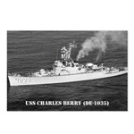 USS CHARLES BERRY Postcards (Package of 8)