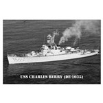 USS CHARLES BERRY Large Poster