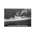 USS CHARLES BERRY Rectangle Magnet (100 pack)