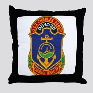 USS CHARLES BERRY Throw Pillow