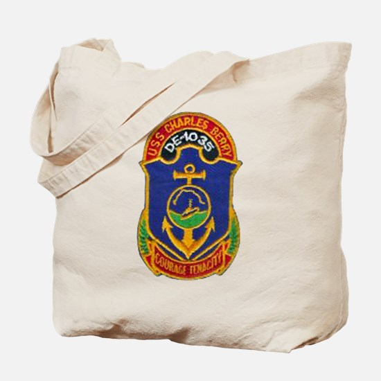USS CHARLES BERRY Tote Bag