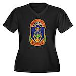 USS CHARLES BERRY Women's Plus Size V-Neck Dark T-