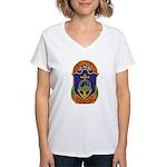 USS CHARLES BERRY Women's V-Neck T-Shirt
