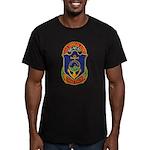 USS CHARLES BERRY Men's Fitted T-Shirt (dark)