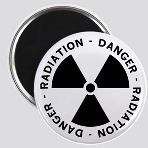 Radiation Symbol w/ Text Magnet