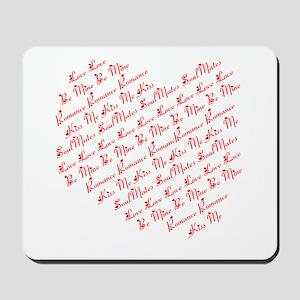 Heart Phrases Mousepad