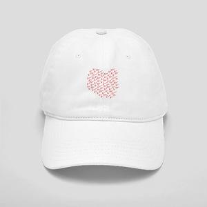 Heart Phrases Cap