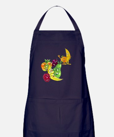 Healthy Happy Fruit Apron (dark)
